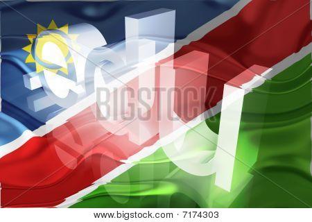 Bandeira da Namíbia ondulado educação