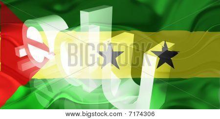 Bandeira de São Tomé e Príncipe ondulado educação