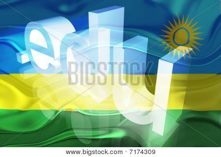Bandeira do Ruanda ondulado educação