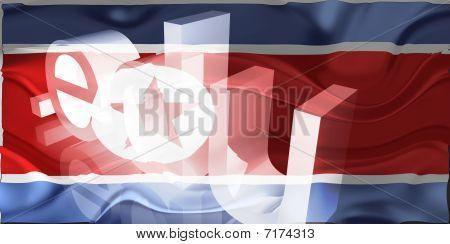 Bandeira da Coreia do Norte ondulado educação