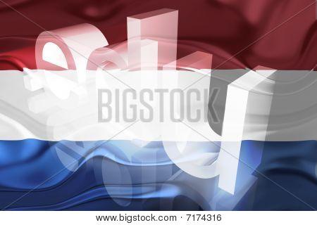 Bandeira da Holanda educação ondulado