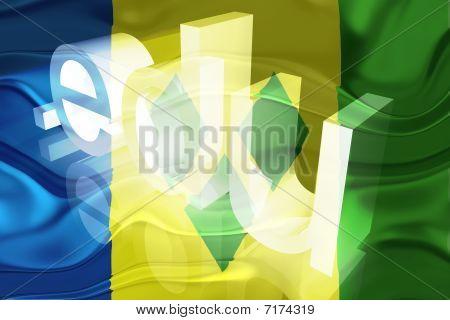 Bandeira de São Vicente e Granadinas educação ondulada