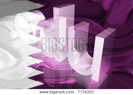 Bandeira do Qatar ondulado educação