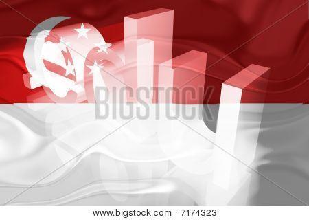 Bandeira de Singapura ondulado educação