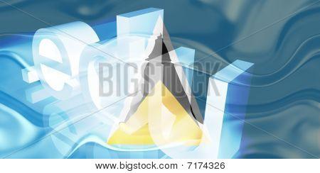 Bandeira de Santa Lúcia ondulado educação