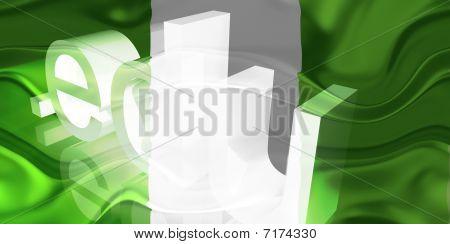 Bandeira da Nigéria ondulado educação