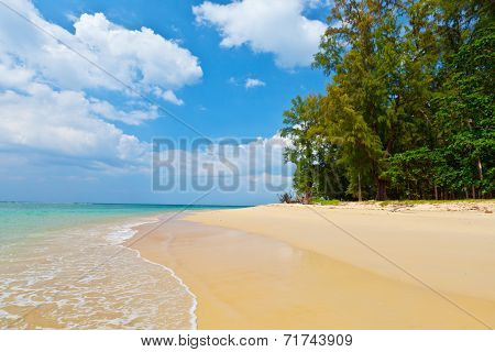 Daytime Landscape With A Beautiful Beach And Tropical Sea