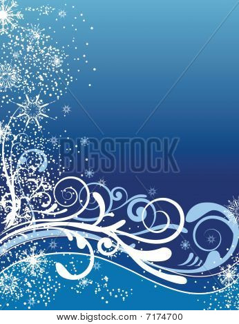 Blue Christmas Background Ornaments