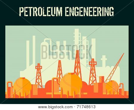 Oil industry poster