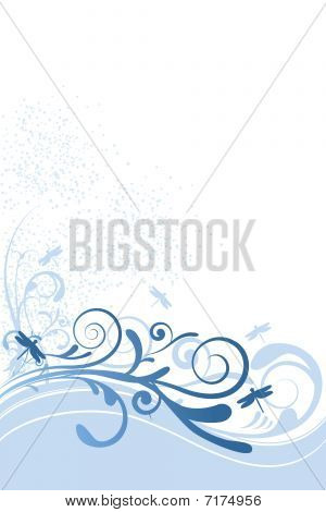 Dragonfly Background Blue Ornament