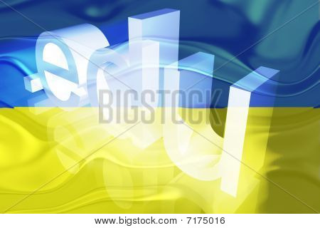 Bandeira da Ucrânia ondulado educação