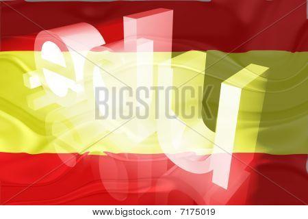 Bandeira da Espanha educação ondulado