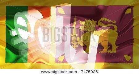 Bandeira do Sri Lanka ondulado educação