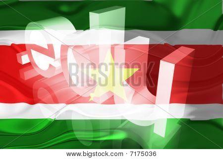 Bandeira do Suriname ondulado educação