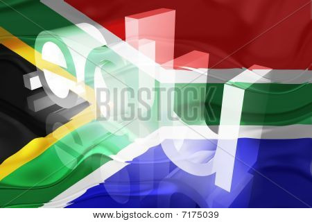 Bandeira da África do Sul educação ondulado