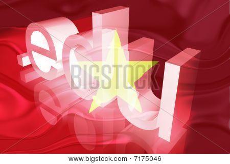 Bandeira do Vietname ondulado educação