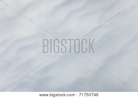Fluffy and soft clouds seen from above