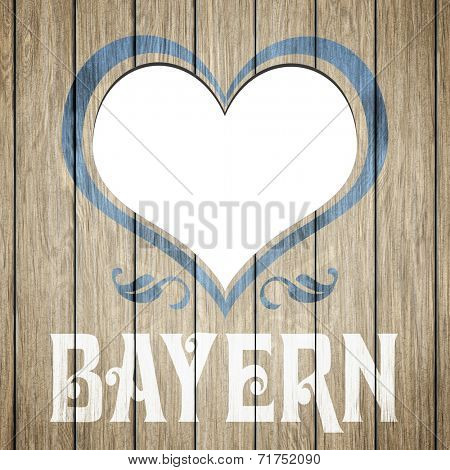 An image of a beautiful wooden heart Bayern