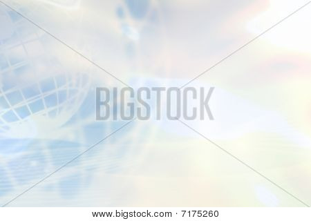 Light Blue Globe Background