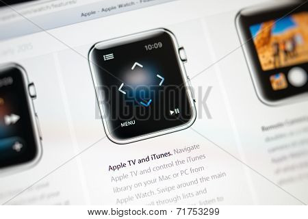 Apple Computers Website With Apple Watch Features