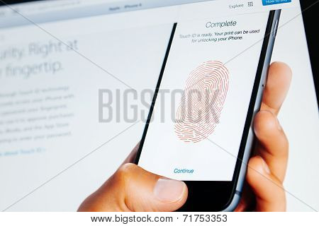 Apple Computers Website With Touch Id Display