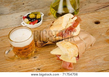 Spanish Ham And Cheese Sandwich