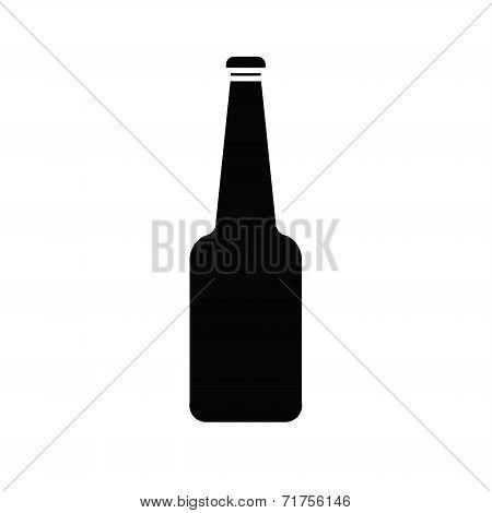Silhouette Of Glass Bottle Vector.eps