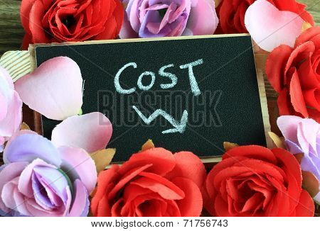 concept of cost with decrease sign