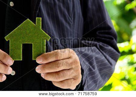 green icon house concept
