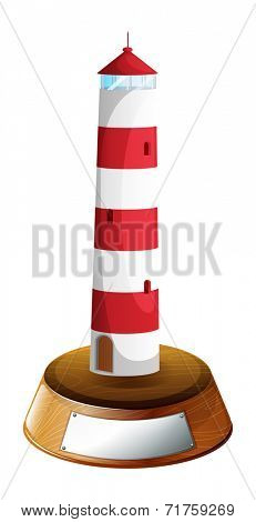 Illustration of a tower-designed trophy on a white background