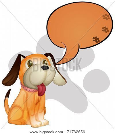 Illustration of a dog with an empty callout on a white background