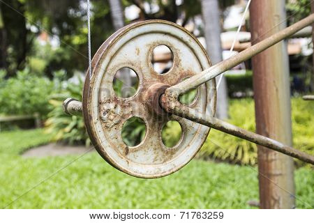 The Pulley For Pulling The Flag