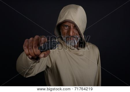 Striking Image of a thug Gangster with a Gun
