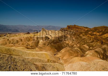 eroded ridges in death valley national park