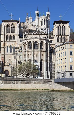 Saint Jean Cathedrale And Notre Dame De Fourviere Basilica
