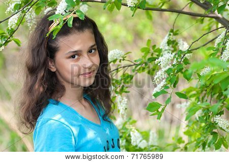Girl About Cherry Blossoms