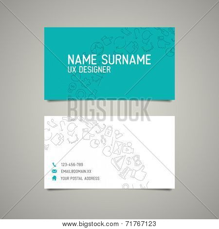 Modern simple business card template for ux designer or webdesigner