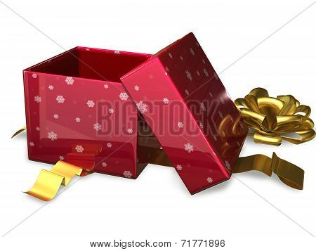 Open Gift Box Red