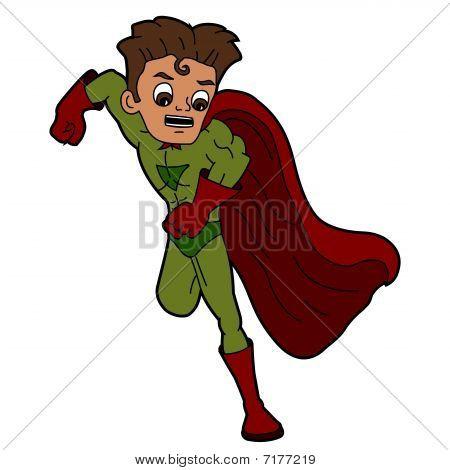 Superhero speedster cartoon