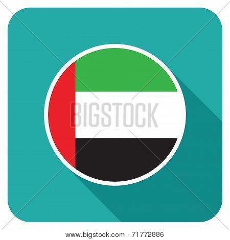 a uae flat flag icon
