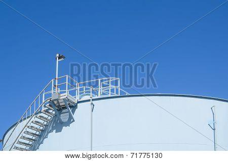 Blue Storage Tank