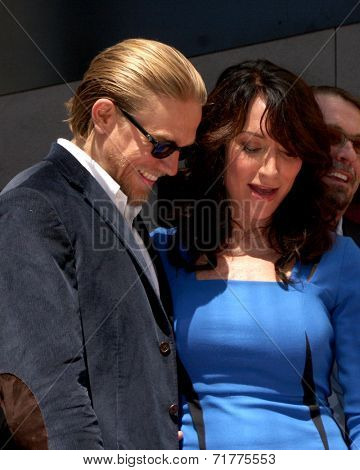 LOS ANGELES - SEP 9:  Charlie Hunnam, Katey Sagal at the Katey Sagal Hollywood Walk of Fame Star Ceremony at Hollywood Blvd. on September 9, 2014 in Los Angeles, CA