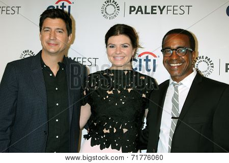 LOS ANGELES - SEP 10:  Ken Marino, Casey Wilson, Tim Meadows at the Paley Center For Media's PaleyFest 2014 Fall TV Previews - NBC at Paley Center For Media on September 10, 2014 in Beverly Hills, CA