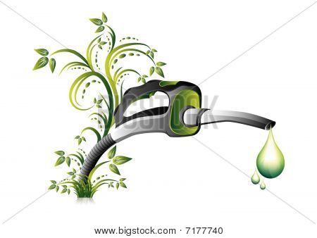 Green fuel pump nozzle