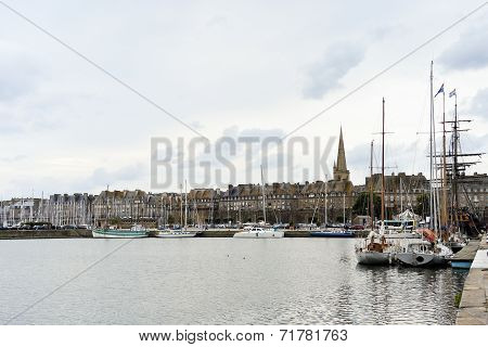 Saint-malo Port City In Brittany