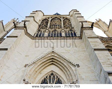 Facade Of Medieval Amiens Cathedral