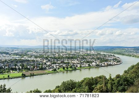 Above View Of Koblenz Town, Germany