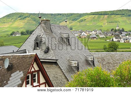 Towns On Moselle River, Germany