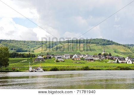 Ellenz Poltersdorf Village On Moselle Riverbank