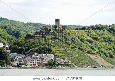 View Of Beilstein Village And Metternich Castle